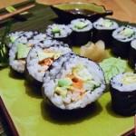 donna vassoio sushi